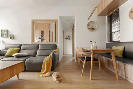 2021现代简约150平米效果图 2021现代简约三居室装修设计图片