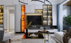2021現代簡約110平米裝修設計 2021現代簡約三居室裝修設計圖片
