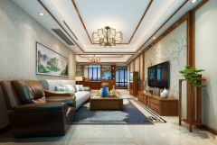 2020中式110平米裝修設計 2020中式三居室裝修設計圖片