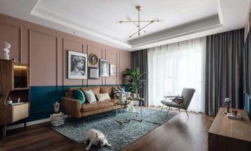 2020復古90平米裝飾設計 2020復古三居室裝修設計圖片