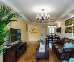 2021美式110平米装修设计 2021美式三居室装修设计图片