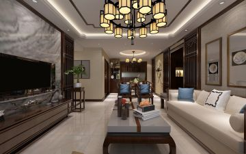 2021簡中150平米效果圖 2021簡中三居室裝修設計圖片