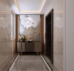 2021现代简约玄关图片 2021现代简约走廊装修效果图片