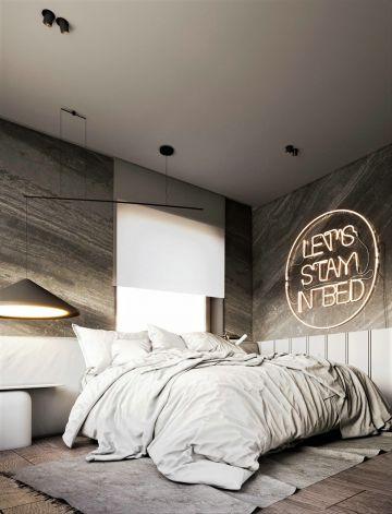 卧室米色床图片