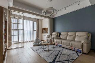 2021現代簡約90平米裝飾設計 2021現代簡約三居室裝修設計圖片