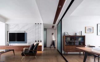 客厅白色背景墙设计方案