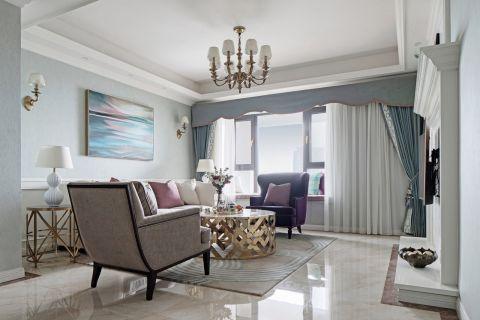 2021美式客厅装修设计 2021美式地板砖设计图片