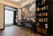 2021复古书房装修设计 2021复古背景墙装修效果图片
