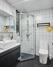 2021现代简约卫生间装修图片 2021现代简约隔断装修设计