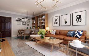 设计优雅客厅现代中式构造图
