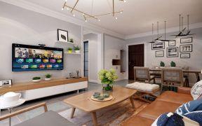 客厅暖色系细节装饰实景图片