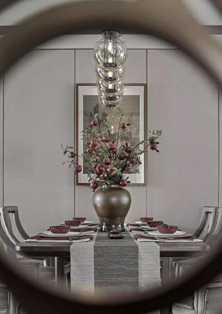 美式客厅地板装饰实景图片