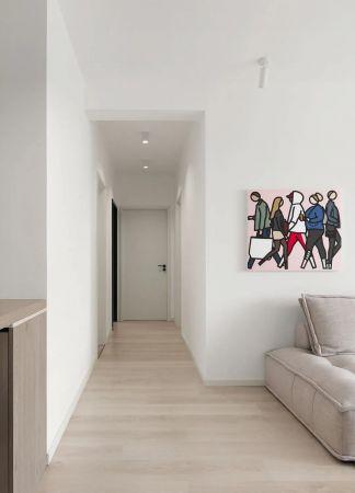 朴素温馨简约白色门厅装饰设计