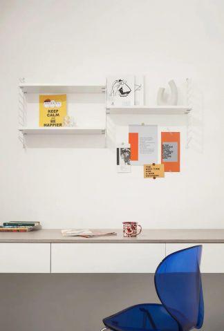时尚简约白色书桌效果图