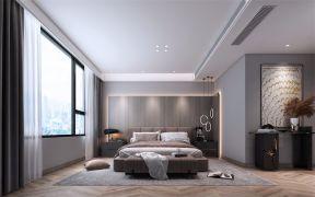 唯美现代黑白灰床头柜装饰图
