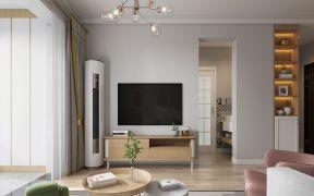 客厅原木色地板装修图片