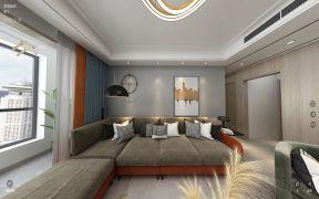 现代简约卧室背景墙实景图