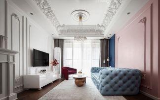 客厅背景墙法式装修美图
