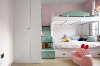 卧室蓝色背景墙案例图片