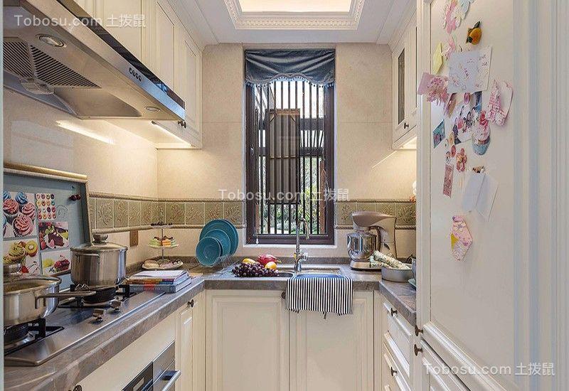 厨房 厨房岛台_湘江世纪城130平三居室法式装修效果图