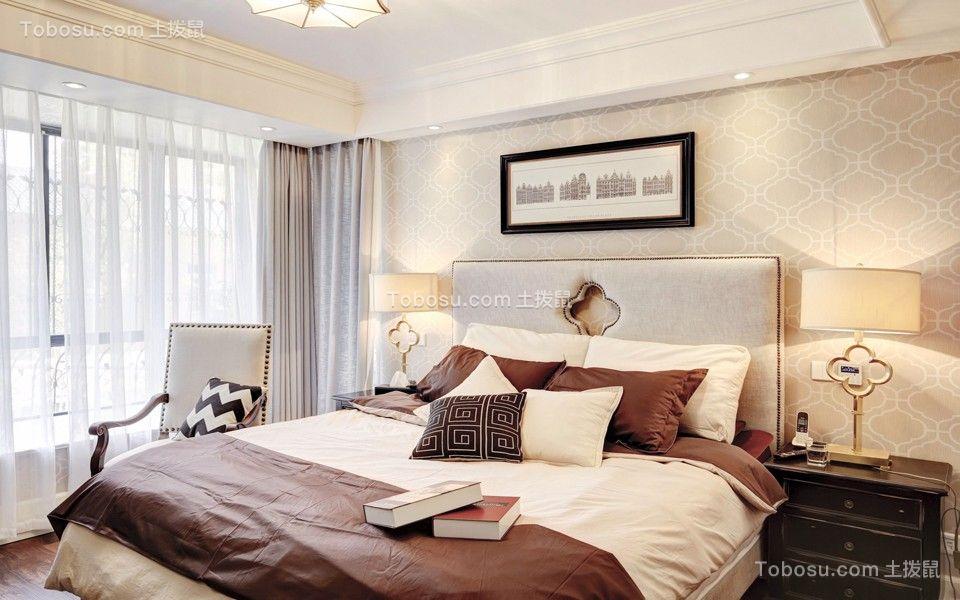 翡玉兰湾128平美式风格三居室装修效果图