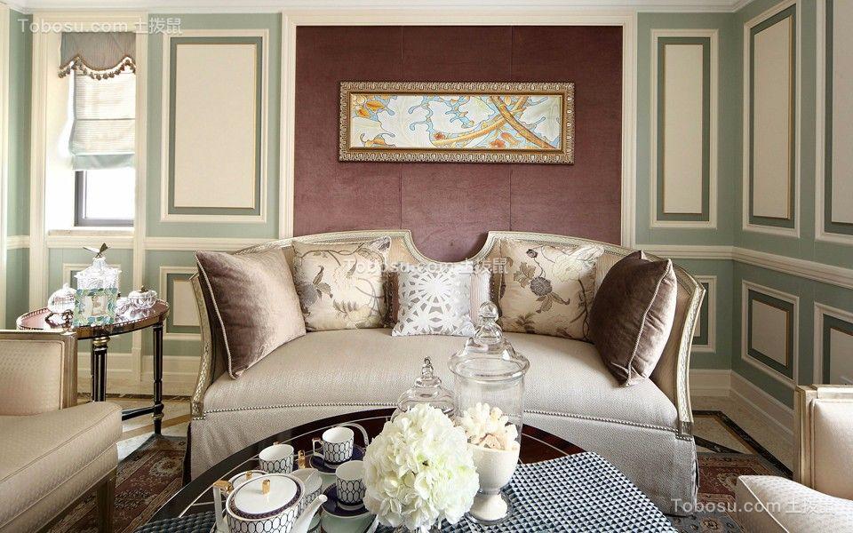 星河国际115平美式风格三居室装修效果图