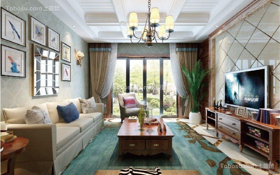 江与城微澜岸120平米美式风格四室两厅一厨两卫装修效果图