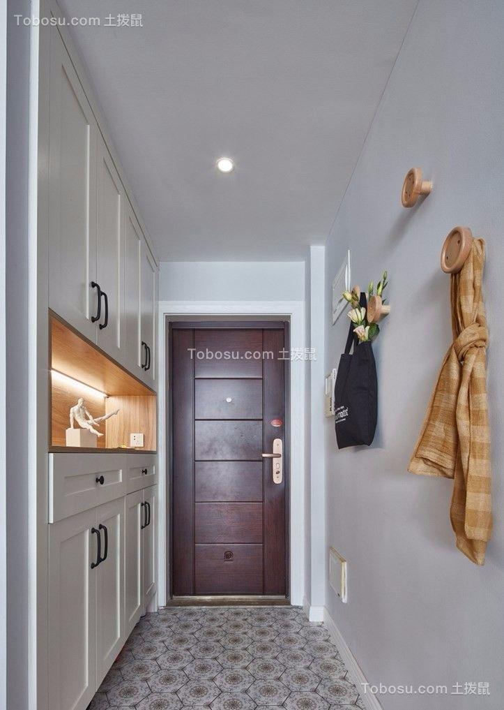 玄关白色鞋柜北欧风格装潢设计图片