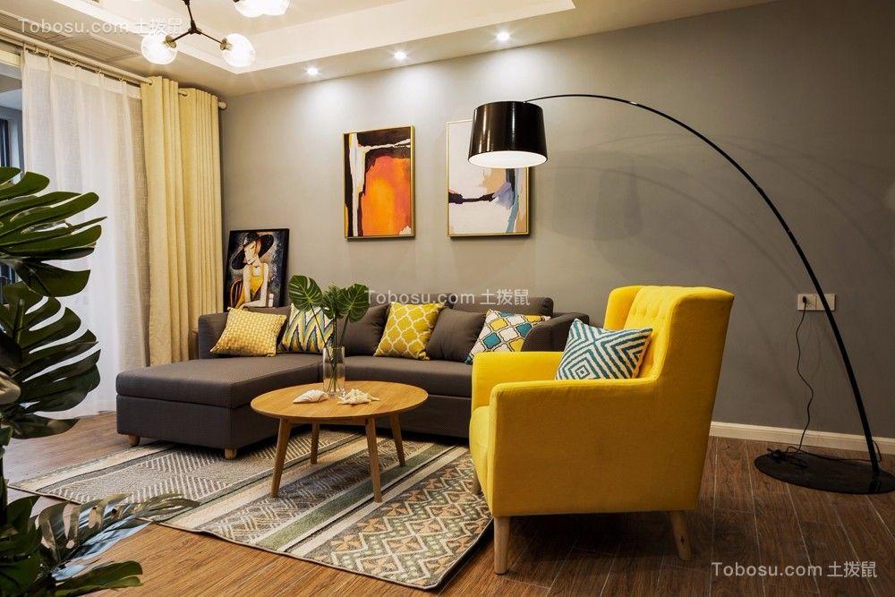 重庆俏业家装饰|金湖湾|三居室75平|北欧风格|装修案例实景图
