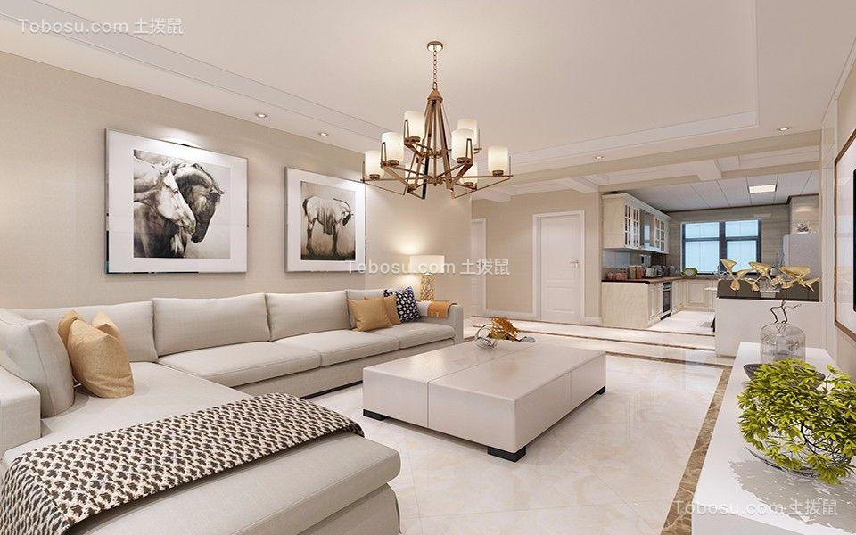 100平米三居室现代风格装修效果图