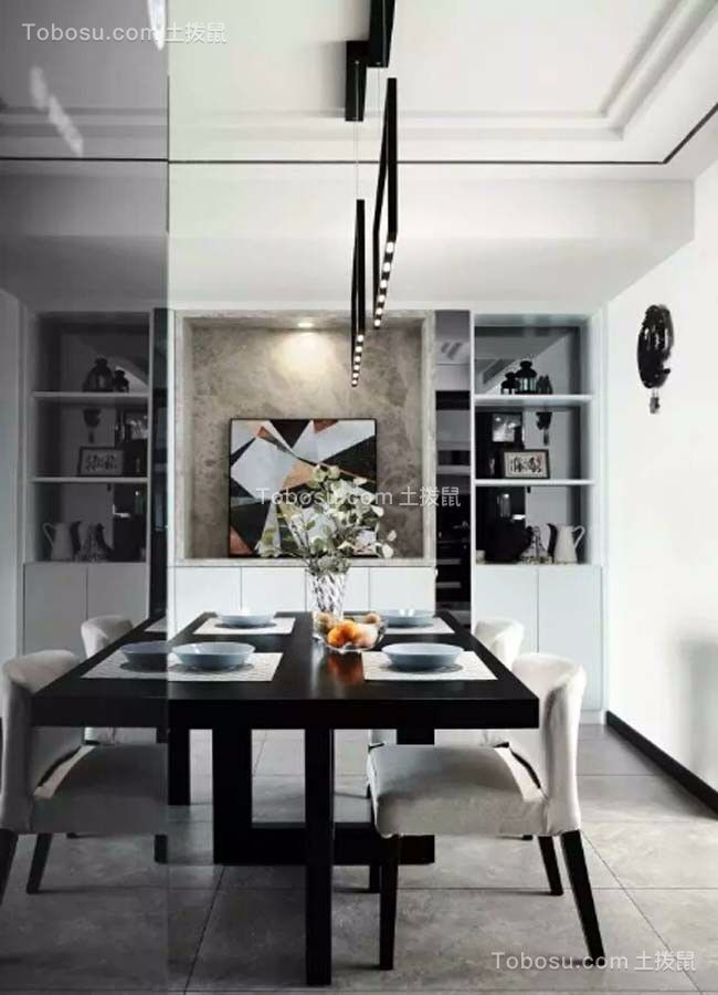 厨房白色细节现代简约风格效果图