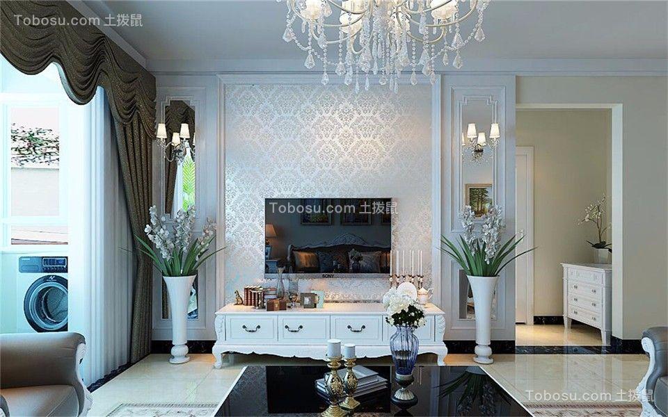 阳台咖啡色窗帘简欧风格装修图片