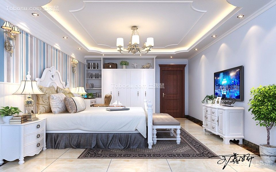 恒德家园欧式风格100平三居室家装效果图