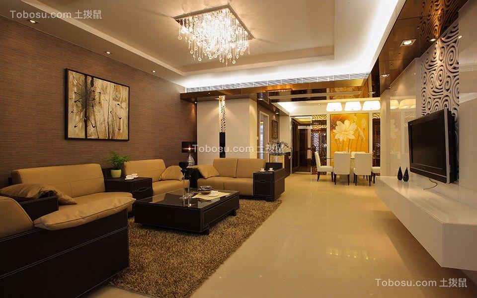 悦海康庭120平米三居室中式风格家装效果图