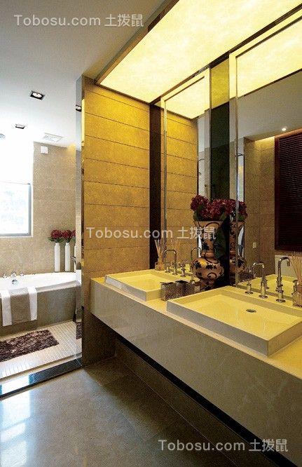 卫生间白色地板砖现代风格效果图
