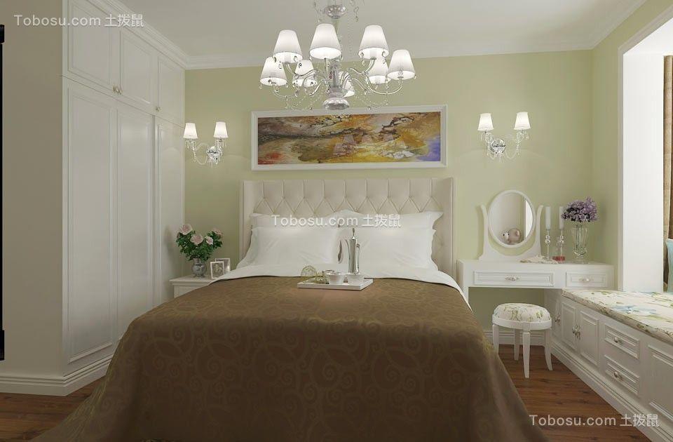 卧室白色吊顶田园风格装潢效果图
