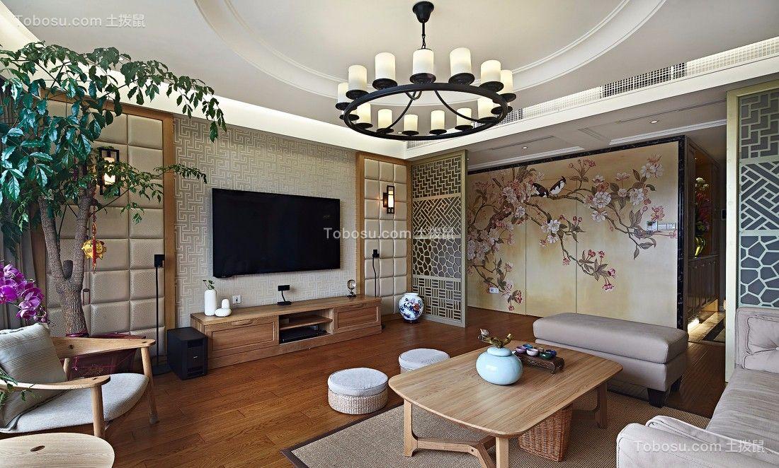 橡树林华府97平中式风格三居室装修效果图