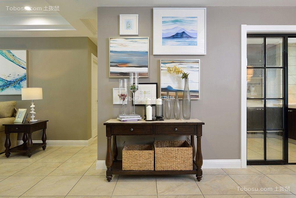 玄关灰色门厅简约风格装饰图片