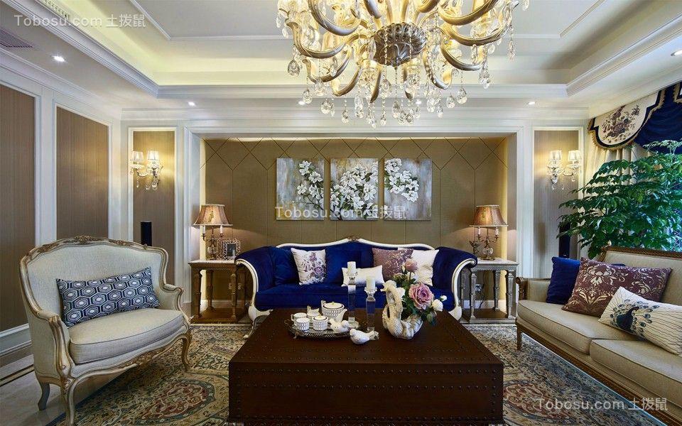 紫金城128平混搭风格三居室装修效果图
