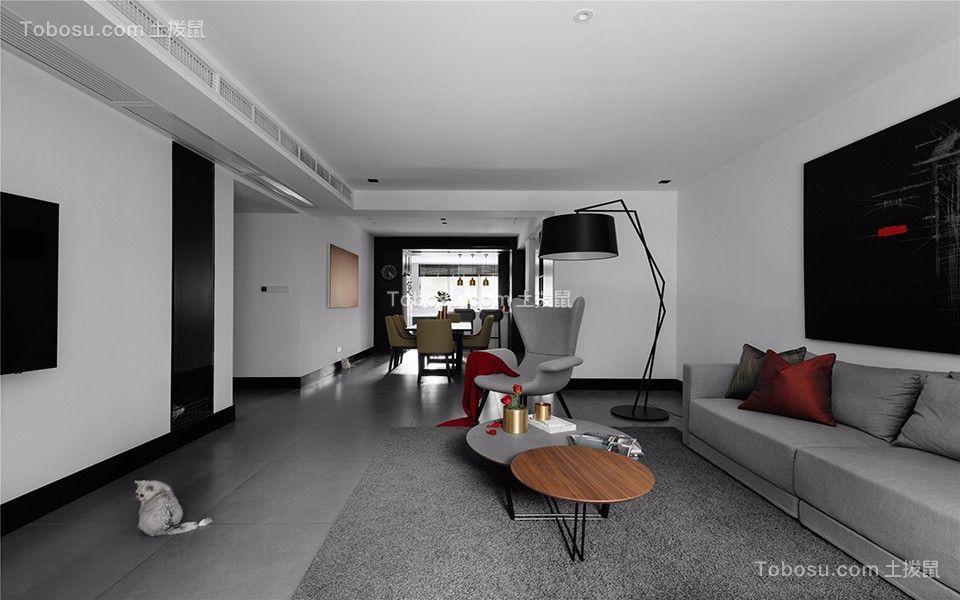 海赋江城95平简约风格两居室装修效果图