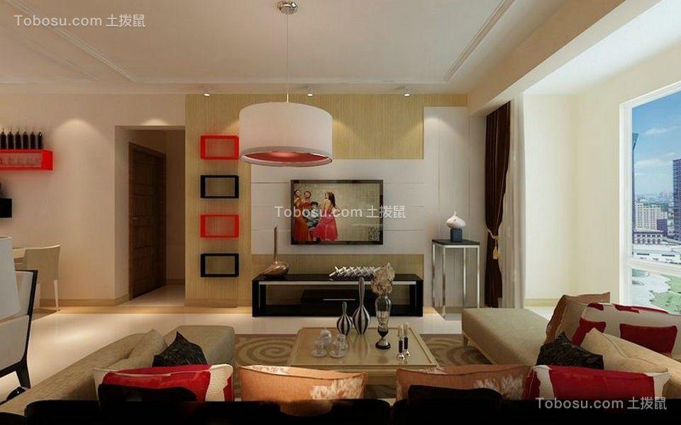 路劲东城93平米二居室现代风格装修效果图