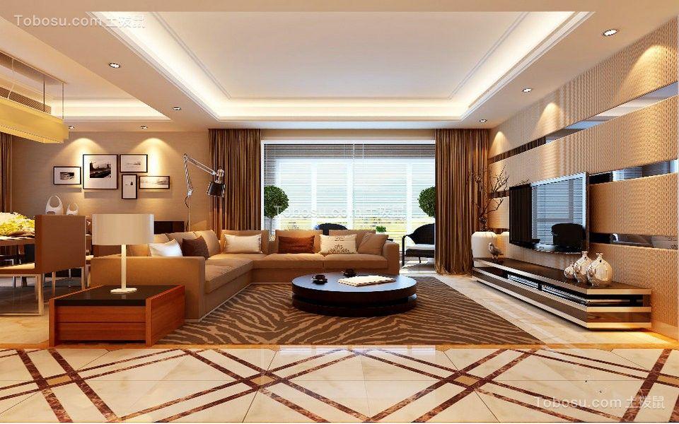 财富中心169平四居室现代风格装修效果图
