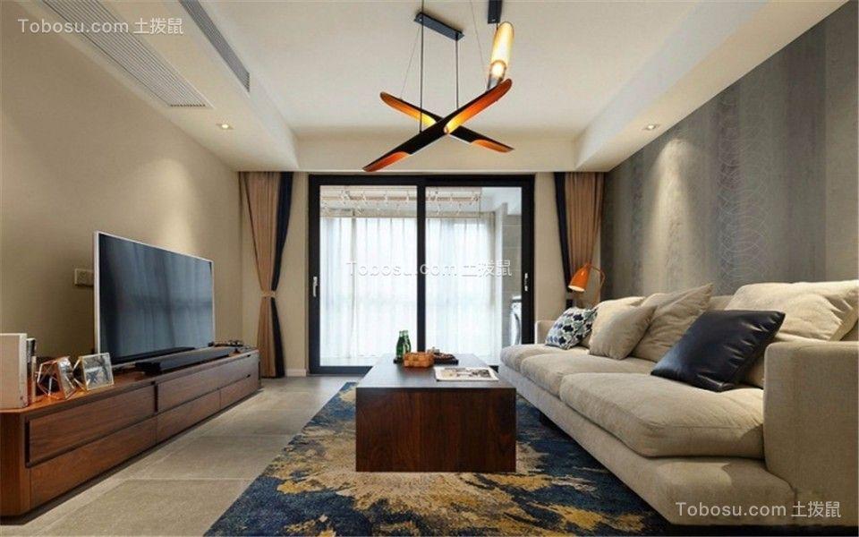 玉洁东街90平现代简约风格二居室装修效果图