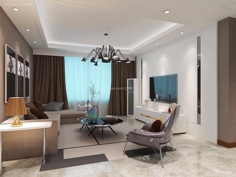 22号院120m²现代风格楼房装修效果图