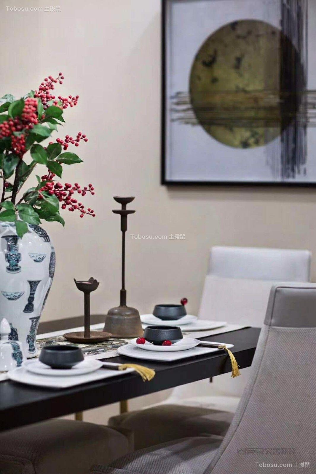 客厅彩色细节新中式风格装潢设计图片