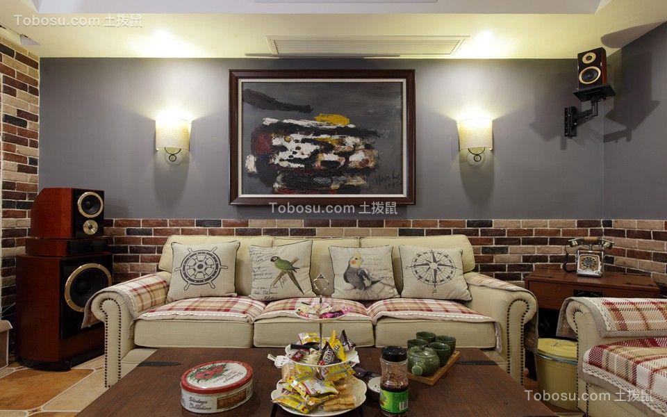 梧桐香郡123平美式风格三居室装修效果图