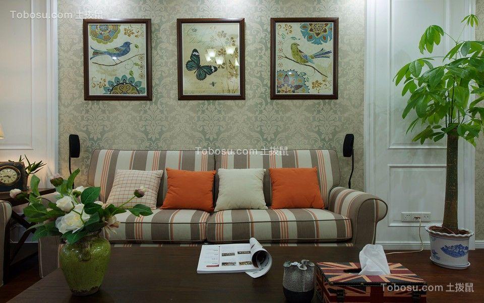 湖滨怡景112平美式风格三居室装修效果图