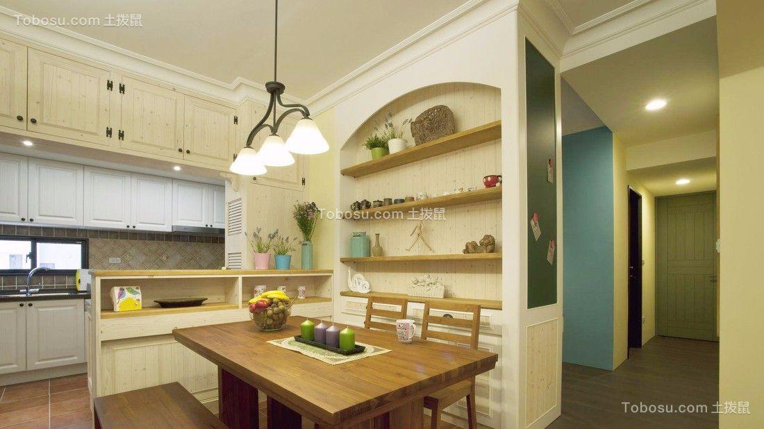 厨房 厨房岛台_狮子湖136平乡村风格四居室装修效果图