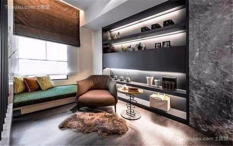 卓越城132平现代风格三居室装修效果图