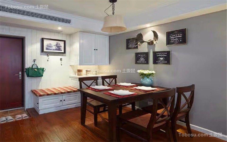 餐厅咖啡色餐桌简单风格装饰图片